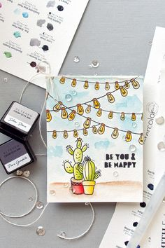 Altenew | Watercolor Cacti Card
