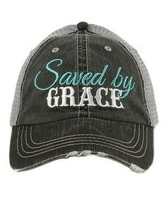 fd888ed922f Take a look at this Katydid Collection Gray  Saved By Grace  Trucker Hat  today