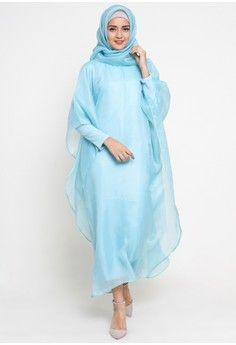Wanita > Baju Muslim > Dress Muslim > Kaftan > Organza Kaftan Mint > TITAN'S WARDROBE
