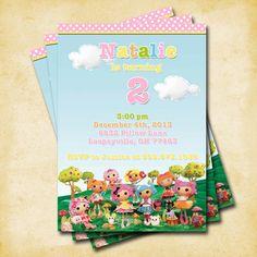 La La Loopsy Birthday Party - Printable Custom Invitation by KatiePaigeDesign