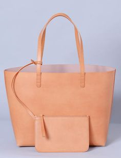 large leather contrast tote