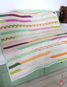 Jelly Roll quilt (Lasagne Quilt) top for my new patwork blanket ♥
