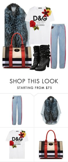 """""""Look #anikle #style #fashion #trendy #coat #shirt"""" by andzelika-niklewicz on Polyvore featuring Koché, Lilly e Violetta and Dolce&Gabbana"""