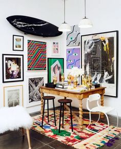 Buy something totally unexpected That crazy neon-lined side chair you've been eyeing at your local Homegoods might be just the thing to send a shockwave through your living room's design. Step outside of your comfort zone and add something to your home that you wouldn't normally dare to.