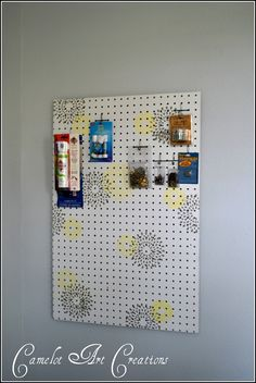 I have had a couple of peg boards in my garage for some time now that a friend of mine gave me andafter scoring a bunch of FREE craft stuf...