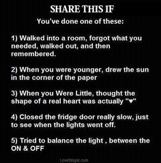 yeah... I've done all of these...