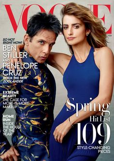 It's a Walk-Off - Penélope Cruz (in a Ralph Lauren Collection dress and Chopard earrings) and Ben Stiller (in Dolce
