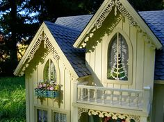 and batten siding, Gothic windows and gables with gingerbread trim ...