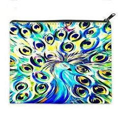 """The LARGE Bag """"Peacock Fille with Swarovski Crystals"""""""