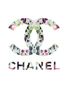 Floral Chanel Logo fashion illustration art print by KomaArt https://www.etsy.com/listing/207743635/floral-chanel-logo-fashion-illustration?ref=cat_gallery_9&ga_ref=auto-1&ga_search_query=chanel+logo&ga_order=most_relevant&ga_view_type=gallery&ga_ship_to=US&ga_search_type=handmade