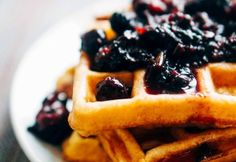Keto friendly cream cheese waffles. Bet you never thought you'd eat waffles on Keto.