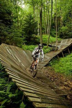 Mountainbike trail. Snowshoe, west virginia