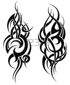 Maori Stil Tattoo Muster f r eine Schulter Lizenzfreie Bilder
