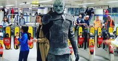 White Walkers are stalking commuters at this London train station