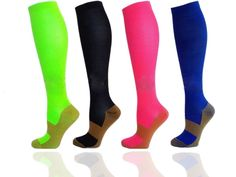f176fcaf51 Colorful Copper Infused Compression Socks Varicose Veins During Pregnancy,  Achy Legs, Support Stockings,