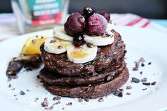 Cacao Date Buckwheat Pancakes - The Foodcrafter