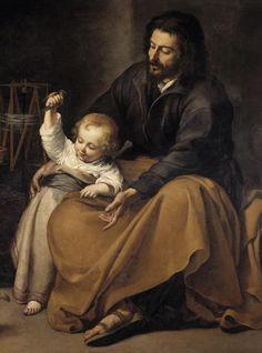 Detalle de San José por Murillo. Museo del Prado.