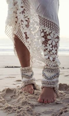 Crochet Cover-Ups and Ankle Bangles