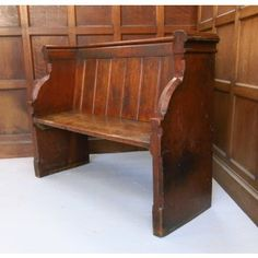 Furniture Selfless Antique 10ft Pine Church Bench Uk Delivery Available