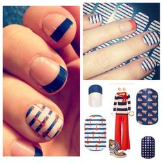 Nautical Jamberry nails http://aimeehowell.jamberrynails.net/