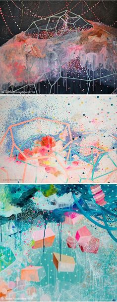 """The Jealous Curator /// curated contemporary art /// """"jellyfish in a trifle"""" #abstractart"""