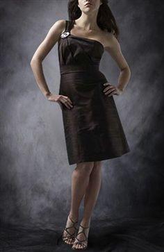Taffeta A-line Short One Shoulder Sleeveless Ruffles Cocktail Dresses - Cocktail Dresses - OuterInner.com