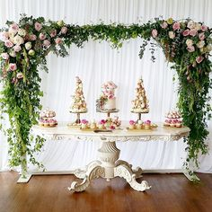 #TBT to one of our favorite Kitchen Dessert tables  by @sugarandpearls  Styling & Cakes by @sugarandpearls  Flowers by @stemsbyabby  Strawberries & Macarons by @strawberriesandco_  Props by @elegant_tea_time  #kitchentea #desserttable #elegant #cakes #sydneyprophire #sydneyeventhire #elegantteatime #ettprops