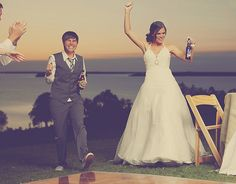 Ali & Emily's fairytale wedding in the woods such a cute couple! Love the dress <3