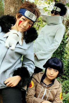 Team KURENAI , Kiba,Shino y Hinata
