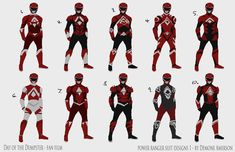 Power Ranger Suit concepts by BoredToLife