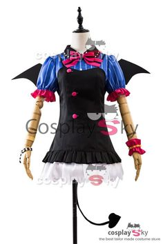 Love Live! New UR Koizumi Hanayo Little Demon Uniform Halloween Cosplay Costume_1