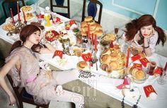 Yoo Ji An and Kang So Young by Kim Jeong Sun for Vogue Girl Korea May 2010