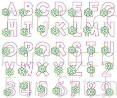This is a set of digitized machine embroidery design. You need to have an embroidery machine and knows how to transfer to your machine.  Set of 26 flower alphabets and numbers are included. Each is about 3.90. This is a applique design, NOT a patch or iron on.  The following formats are available:  PES HUS ART DST EXP XXX JEF VIP VP3 Your designs are for instant download from etsy.  Terms of Use All my designs are copyright protected and belong solely to Fun Stitch. You may embroider these…