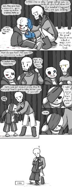 Sans and papyruse