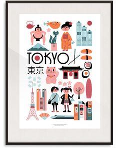 Tokyo Print By Ingela P Arrhenius | Lagom Design