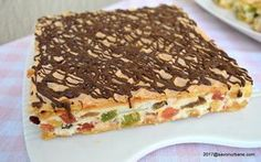 prajitura mozaic reteta pas cu pas cu napolitane si rahat (1) Pastry Cake, Cake Cookies, Pie, Sweets, Bread, Desserts, Recipes, Food, Cakes