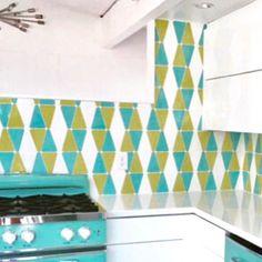 Retro chic for a fun kitchen #design using #tiles from @modwalls! // #backsplash #color #designhounds #designer #designinspo #homeinspo #homedesign #homeinterior #interiors #instadesign #interiorinspo #interiorstyle #kitchendesign #kitchenremodel #instafun #madeinamerica #retrodecor #tileometry #tiled #tilework #tiledesign #tilelove #tileaddiction #tilestyle #whytile #Coverings2017