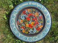 Norwegian Rosemaling in Telemark Style with by Folkartbycathy, $125.00