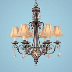 Millennium Lighting�7-Light Crystal Cove Silver Mist Chandelier