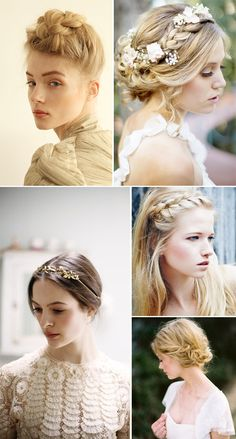 Trendy Wedding, blog idées et inspirations mariage ♥ French Wedding Blog: 20 coiffures fraîches et romantiques pour la mariée