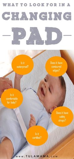 Looking for a baby changing pad? Accidents happen, so make sure it's waterproof! Click to see this and other helpful tips on how to choose a diaper changing pad. Pin it. #changingstation #diaper #nursery