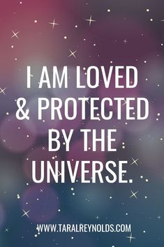 I am loved and protected by the universe. I am loved and protected by the universe. This image has get. Positive Affirmations Quotes, Affirmation Quotes, Positive Quotes, Gratitude Quotes, Healing Affirmations, Image Positive, Positive Thoughts, Positive Vibes, Mantra