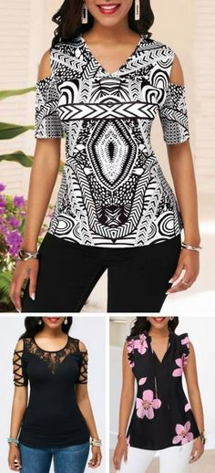 Sleeveless tops are a must: why not look both extravagant and elegant all at once? See our top guide to pick out something for yourself. Blouse Styles, Blouse Designs, Stylish Tops For Women, Dress Outfits, Fashion Dresses, Sewing Blouses, Shirt Refashion, Handmade Dresses, Classy Dress