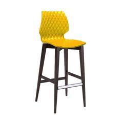 UNI, chaise de bar design en bois Metalmobil