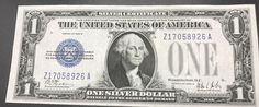 Silver Certificate One Dollar 1928B Funny Back Note Blue Seal United States Paper Money by IroquoisCopper on Etsy