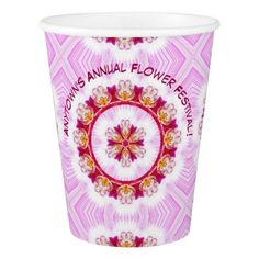 #floral - #Personalize Event Name - Purple Orchid Photography Paper Cup