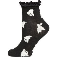 Dorothy Perkins Black Ghost Print Lace Socks