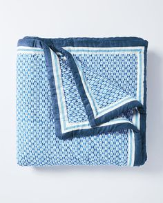 Geo QuiltGeo Quilt MBR - use white sheets and one long navy accent pillow - check out John Robshaw