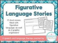 FREE short stories loaded with figurative language for speech and language therapy. A great activity! From Speechy Musings.