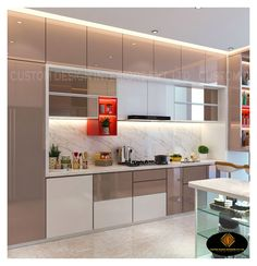 Kitchen Cupboard Designs, Kitchen Room Design, Home Room Design, Modern Kitchen Design, Interior Design Kitchen, Kitchen Decor, Interior Modern, Small Modern Kitchens, Latest Kitchen Designs